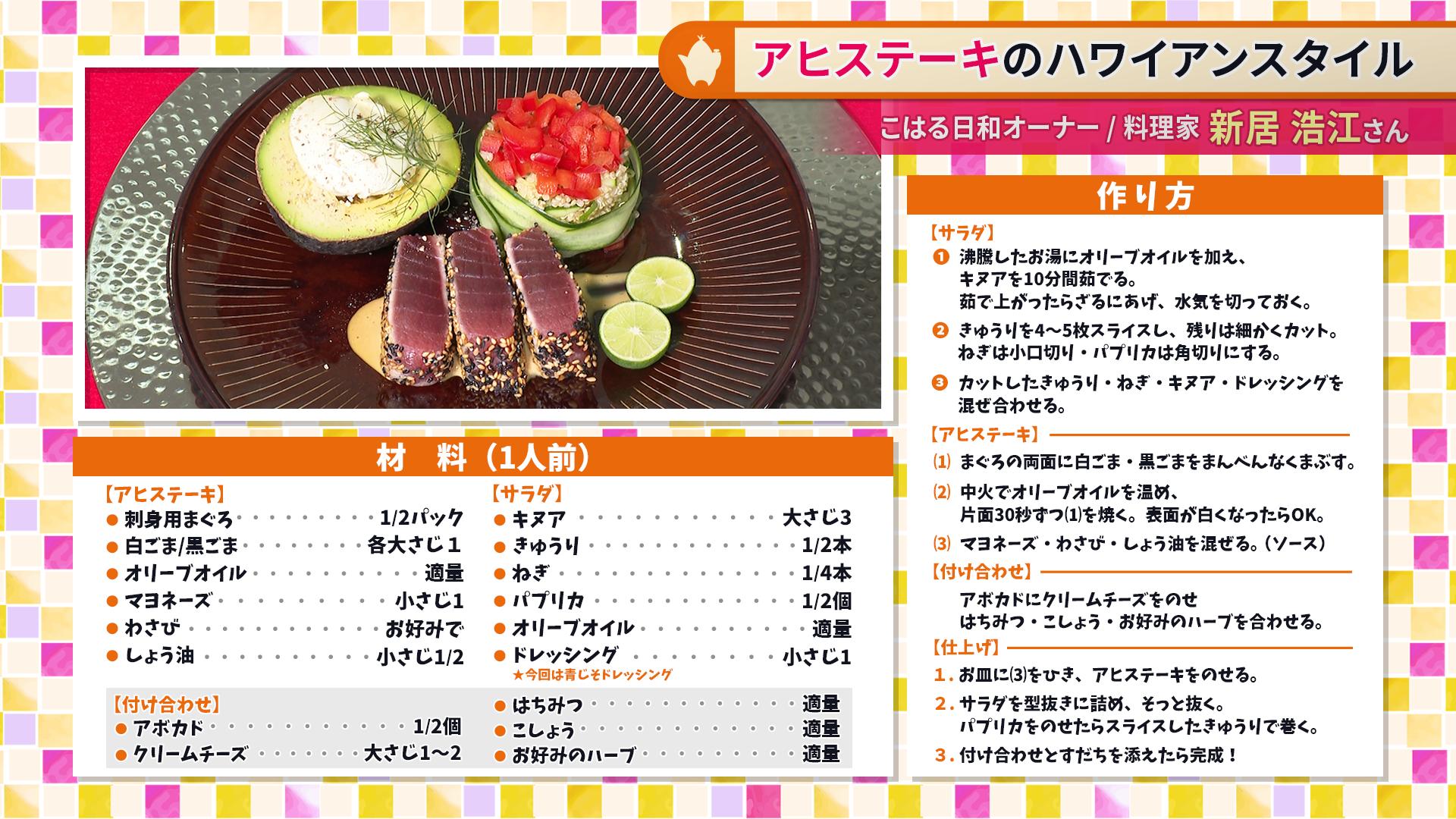 たけナビ『アヒステーキのハワイアンスタイル』レシピ(9/1初回放送)